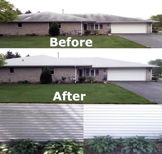 Champaign Roof Cleaning service power washing Champaign